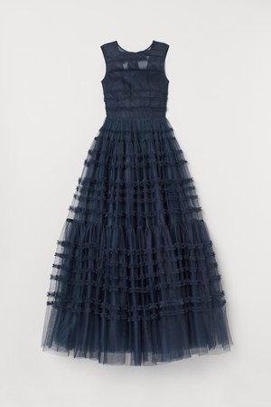 Tulle Ball Gown - Dark blue - Ladies | H&M US