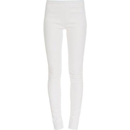 TAMAR MELLON Leather Skinny Leggings ($545)