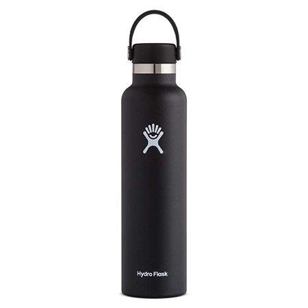 Hydro Flask Standard Mouth Water Bottle, Flex Cap - 24 oz, Black : Sports & Outdoors