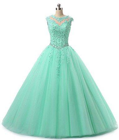 Mint Green Ball Gown 1
