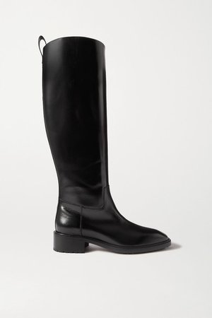 Tammy Leather Knee Boots - Black