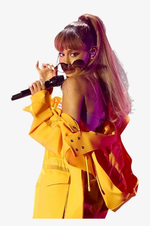 Ariana Grande In Yellow Dress On Stage Png Image - Ariana Yellow Png PNG Image | Transparent PNG Free Download on SeekPNG