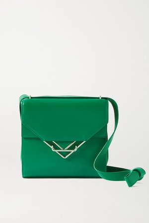 The Clip Small Leather Shoulder Bag - Green