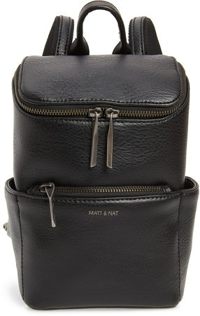 Mini Brave Faux Leather Backpack