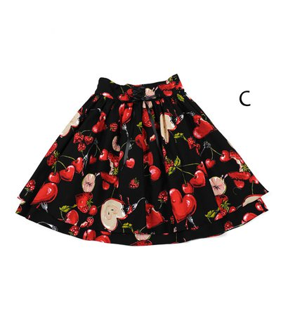 Love Berries Skirt - MILK