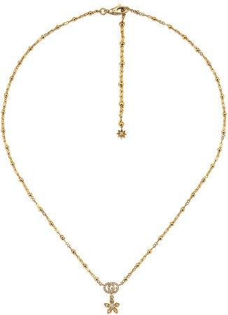 Flora Double-G Diamond & 18K Gold Necklace