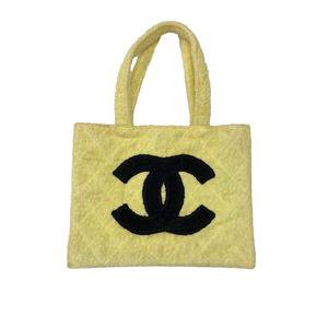 Chanel Jumbo Two Tone Logo Terry Cloth Tote – Treasures of NYC