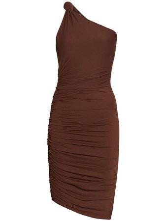 ALIX NYC one-shoulder draped mini dress