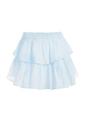 Ruffle Mini Skirt (Pink Gauze) - Womens Skirts | LoveShackFancy.com