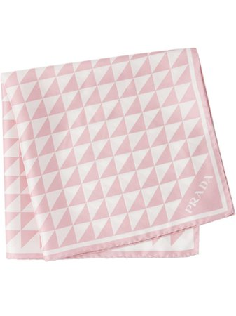 Prada printed twill scarf - FARFETCH