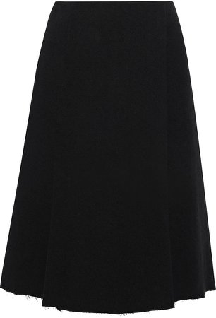 Wrap-effect French Cotton-blend Terry Skirt
