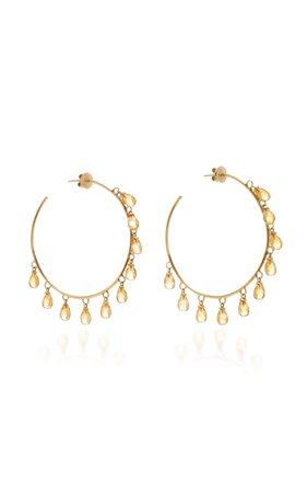 Giovane 18K Gold and Citrine Earrings