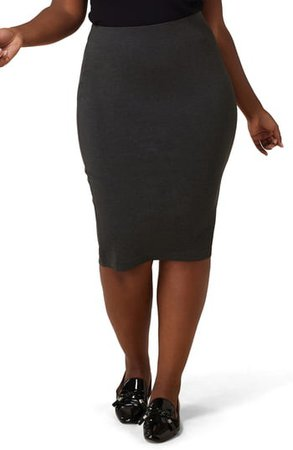 Compression Knit Pencil Skirt