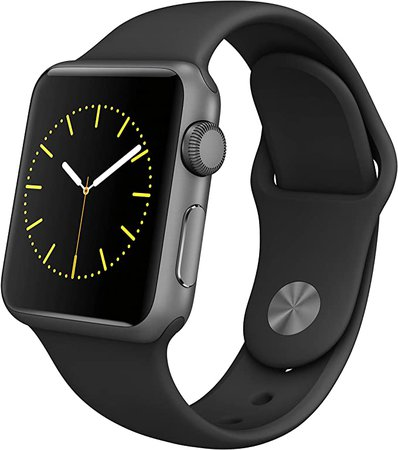 Amazon.com: Apple Watch Series 1 (GPS, 42MM) - Space Gray Aluminum Case with Black Sport Band (Renewed)