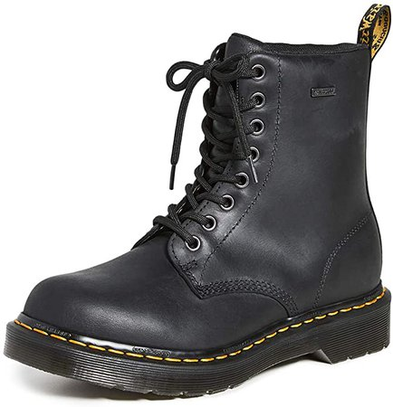 Amazon.com | Dr. Martens Women's 1460 W Waterproof 8 Eye Boots, Black, 5 Medium US | Boots
