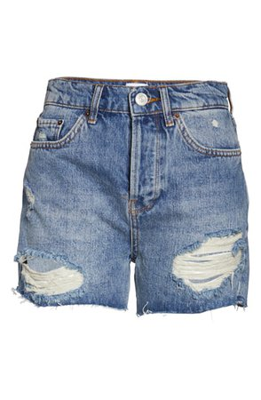 BDG Urban Outfitters Pax Ripped High Waist Denim Shorts | Nordstrom
