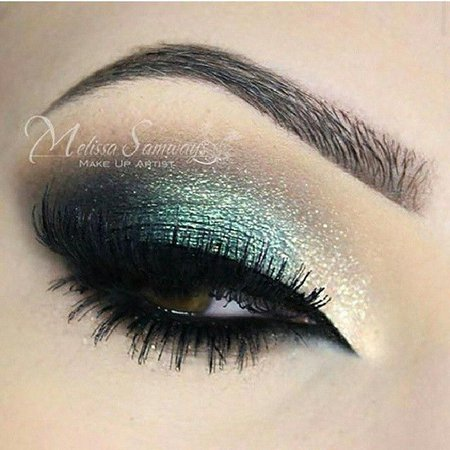 Silver and Emerald Eyeshadow