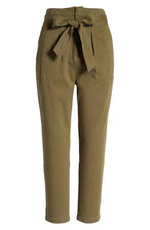 Lulus Belted Tapered Crop Pants | Nordstrom
