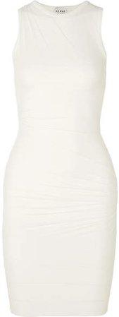 Layered Chiffon And Bandage Dress - White
