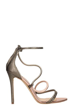 The Seller Grey And Copper Calf Leather Sandals