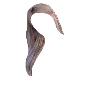 grey/gray/blonde hair png
