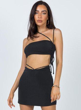 Maisie Mini Skirt Black