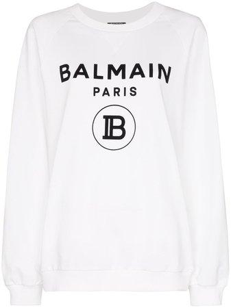 Balmain Moletom Com Estampa De Logo - Farfetch