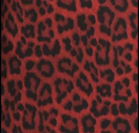 red animal cheetah print