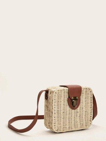 Push Lock Braided Crossbody Bag | SHEIN USA