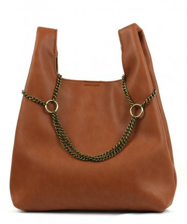 Fashionville.com - Handbags - Street Level Brown Tote with Chain Detail