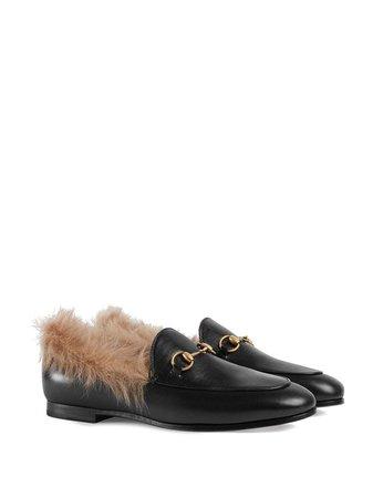 Gucci Jordaan Fur Loafer | Farfetch.com