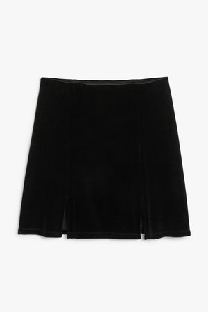 Fitted mini skirt - Black - Mini skirts - Monki