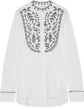 Broderie Anglaise Cotton-blend Blouse