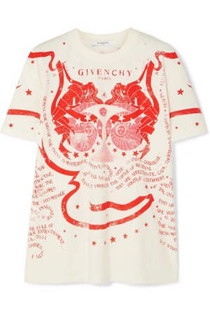 Givenchy | Gemini printed cotton-jersey T-shirt | NET-A-PORTER.COM