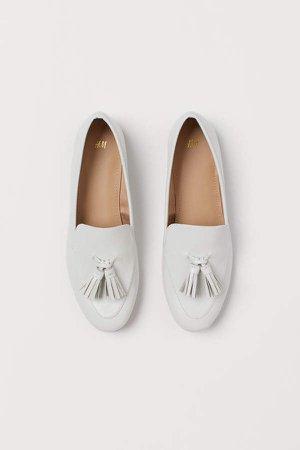 Tasseled Loafers - White