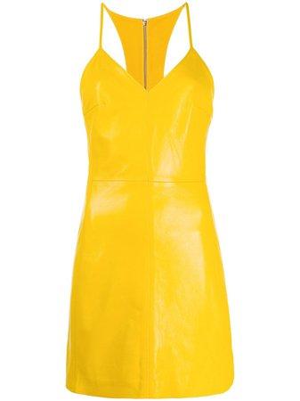 Yellow Manokhi Miya textured racerback dress - Farfetch
