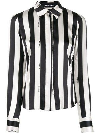 Black Styland Striped Fitted Shirt | Farfetch.com