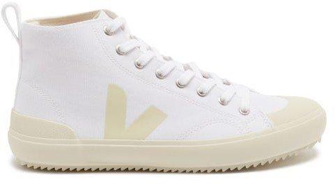 Nova V-logo Organic-canvas High-top Trainers - White