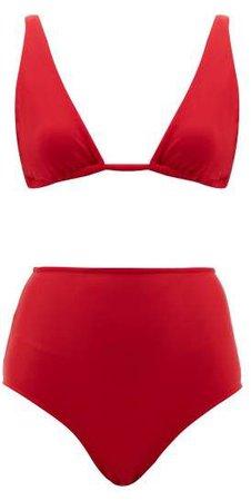 Triangle High Rise Bikini - Womens - Red