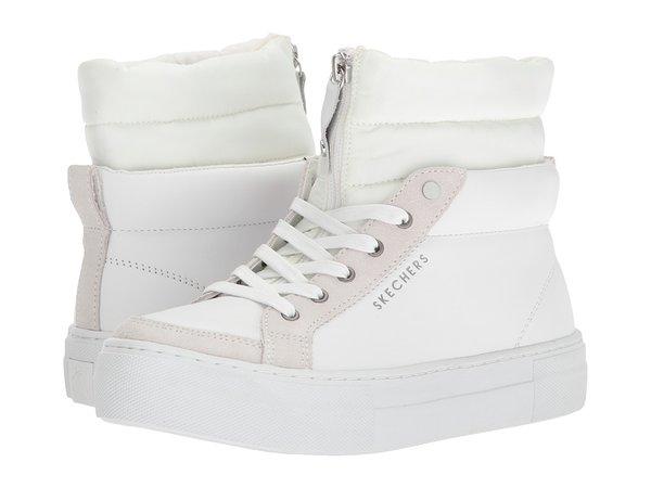 SKECHERS - Alba - Winter Street (White) Women's Lace-up Boots