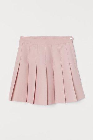 Pleated Skirt - Powder pink - Ladies   H&M US