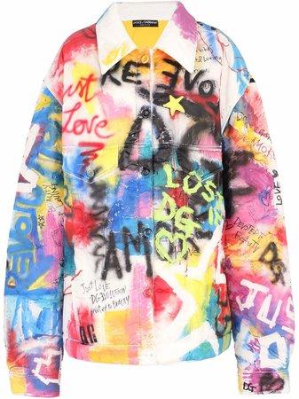 Dolce & Gabbana Surchemise à Imprimé Graffiti - Farfetch