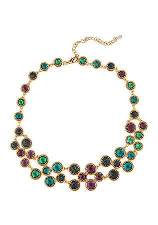 Napier 15 Inch Stone Collar Necklace