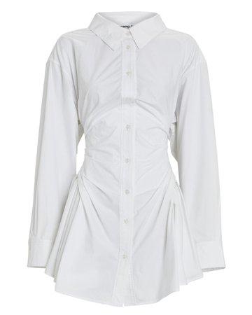 Alexander Wang Gathered Mini Shirt Dress | INTERMIX®