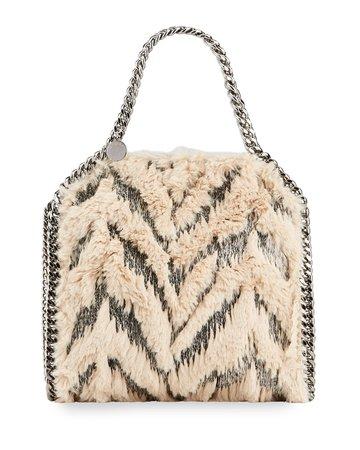 Stella McCartney Falabella Mini Furry Tote Bag | Neiman Marcus