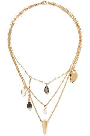 Isabel Marant | Gold-tone multi-stone necklace | NET-A-PORTER.COM