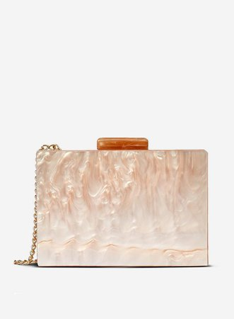 Nude Marble Box Clutch | Dorothy Perkins