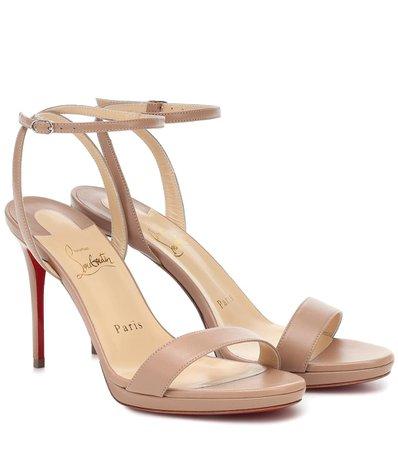 Loubi Queen 100 Sandals | Christian Louboutin - Mytheresa