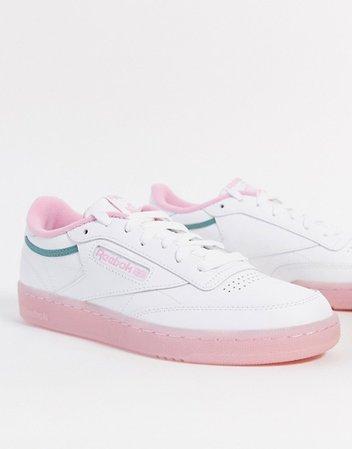 Reebok Club C sneaker in pink and green | ASOS