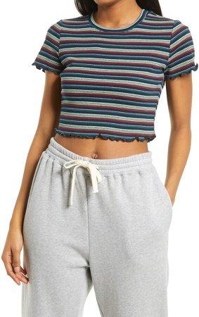 Stripe Rib Baby T-Shirt